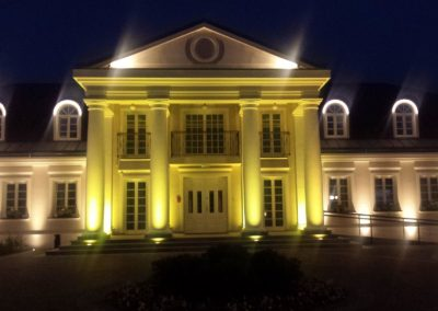 Oświetlenie Dworku Sali Weselnej SPA