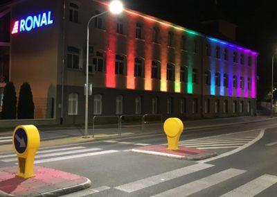 Oświetlenie elewacji Oprawy liniowe Metro24 Wall Washer RGB
