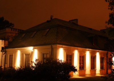 Oświetlenie elewacji Pałacyk Zielińskiego