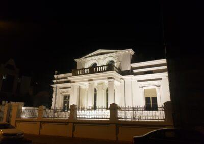 Oświetlenie zalewowe fasady Pałacyku w Łodzi